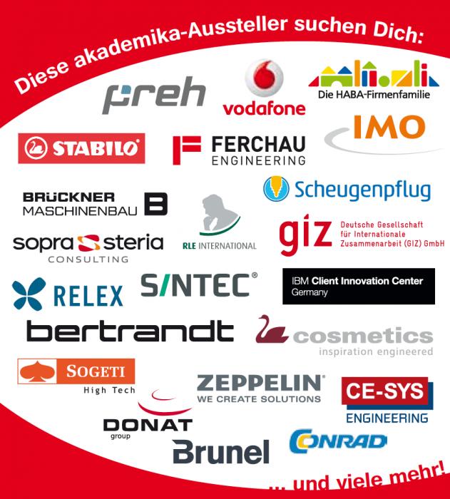 Aussteller auf der akademika Nürnberg 2017
