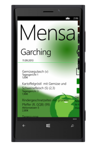 Windows Phone 8 Mensa-App