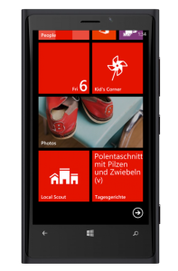 Windows Phone 8 Mensa-App - Live-Tile